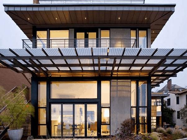 Kanopi Kaca untuk Rumah Modern